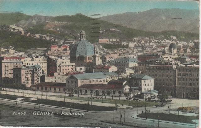 1913 chiesa di santa Zita GE 1935 - con la cupola costruita nel 1926-29