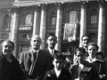 1950 11 01 con familiari e Lazzati - Roma