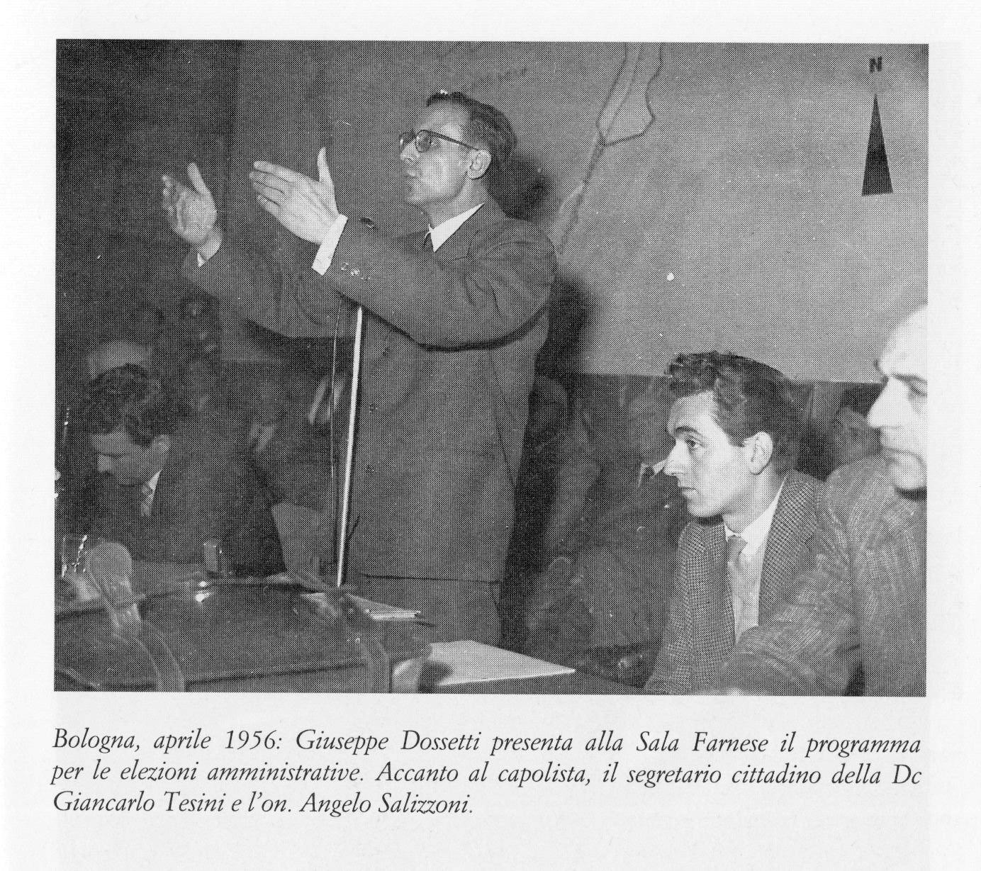 1956 04 sala Farnese - presentazione programma elettorale