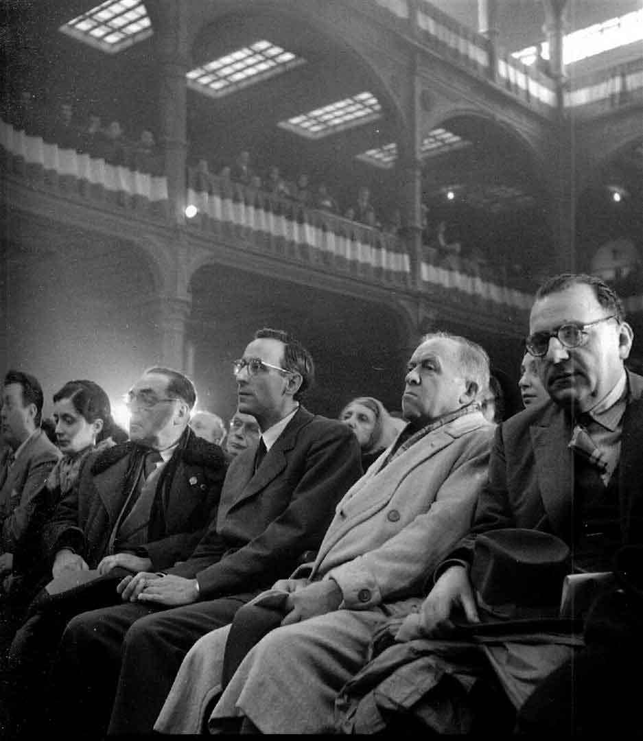 1956 03 19 assemblea pubblica della DC in Sala Borsa 4 - Bologna