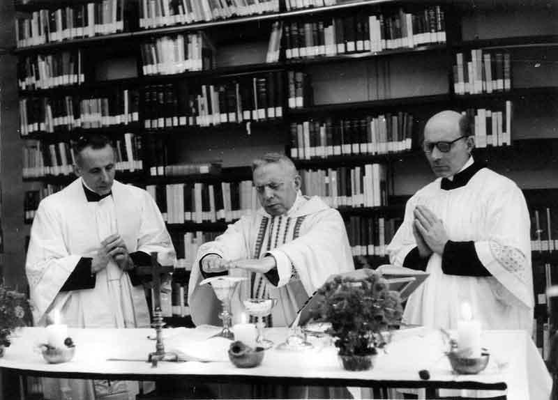 1965 01 05 messa card Lercaro al Centro di documentazione - Bologna