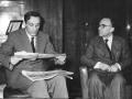 1956 05 27 con La Pira confermato sindaco di FI - nella sede del Giornale del Mattino