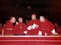 1963 Gregoire-Pierre Agagianian, Giacomo Lercaro, Julius Dopfner, Leon-Joseph Suenens