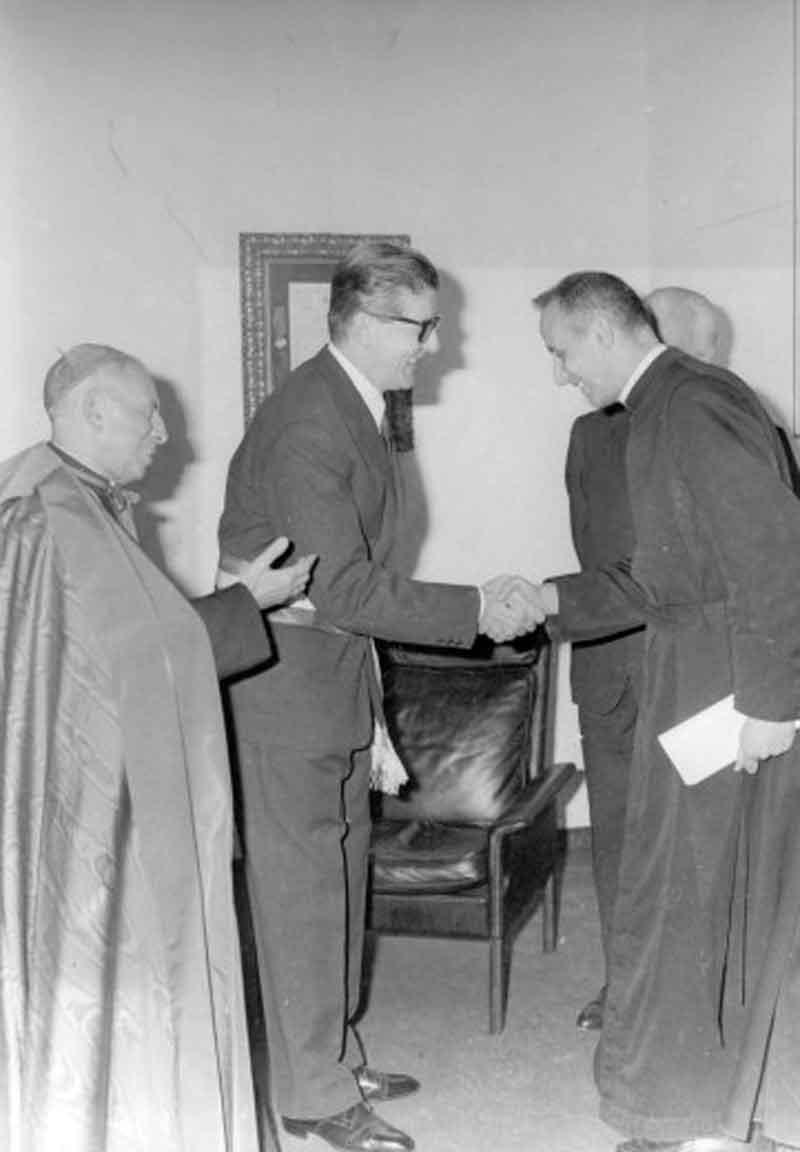 1966 11 26 con Lercaro e sindaco Fanti - Bologna