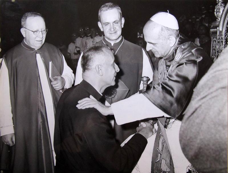 1968 10 27 con papa Paolo VI - Beatificazione di Clelia Barbieri