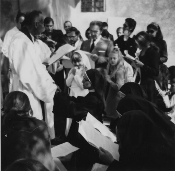 1971 05 30 messa professione Silvia Maria - S. Antonio Monteveglio 2