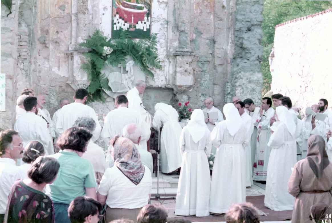 1984 08 15 Messa con sette professioni monastiche - Casaglia, Montesole (2)