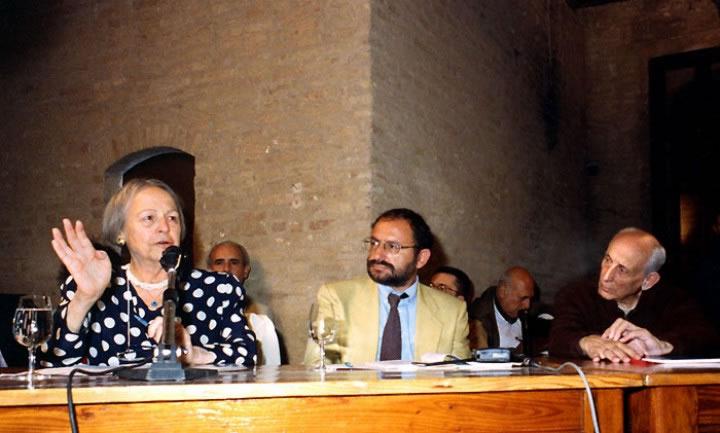 1994 09 16 con N. Iotti al tavolo dei relatori - Monteveglio