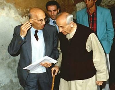 1995 02 05 in sacrestia seduto con Caponnetto - Sariano di Trecenta