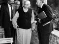 1994 09 16 con Baldini nel chiostro della abbazia - Monteveglio