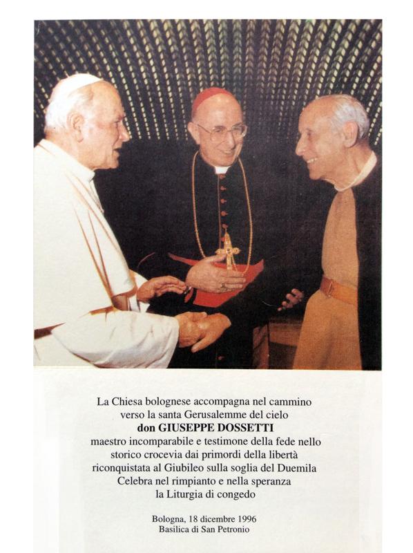 1996 12 18 sussidio per funerali Chiesa di Bologna