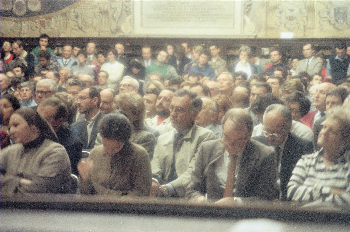 25 ottobre 1986 - l'aula gremita