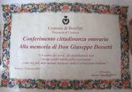 cittadinanza onoraria Bonifati