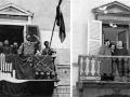1988 1945 dal balcone del palazzo comunale - Cavriago