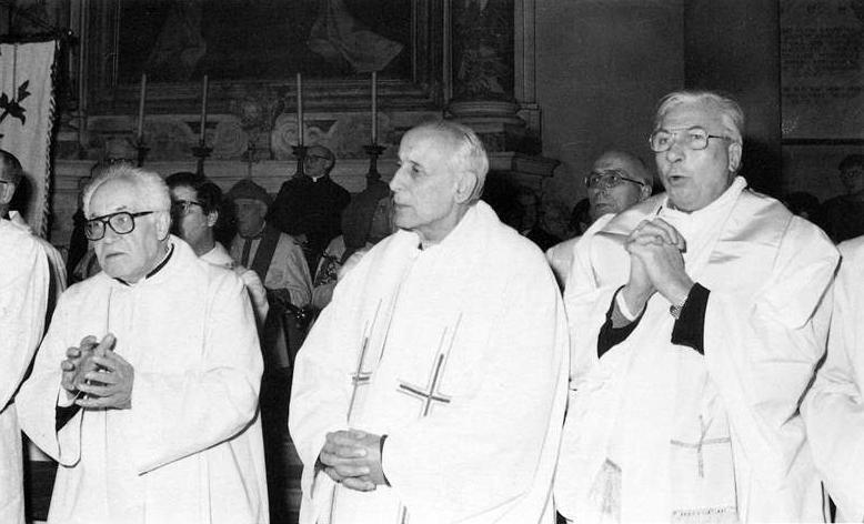 1986 01 09 D. Barsotti G. Dossetti C. Zaccaro, Apertura processo di beatificazione G. La Pira