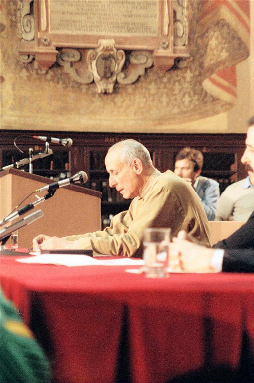 1986 02 22 consegna dell'Archiginnasio - Bologna