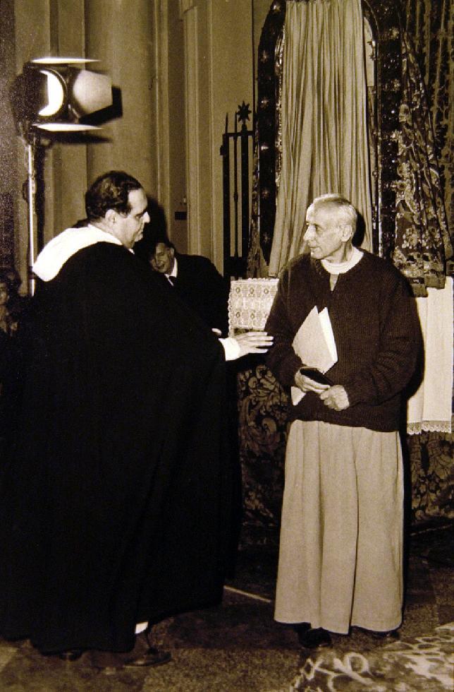 1986 10 21 con padre M. Casali - Martedì di san Domenico