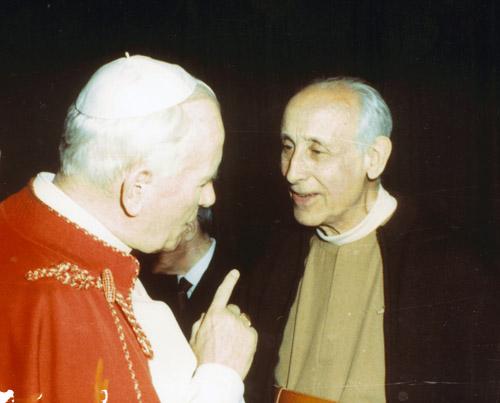 1988 06 07 con papa Giovanni Paolo II a San Petronio BO Bologna