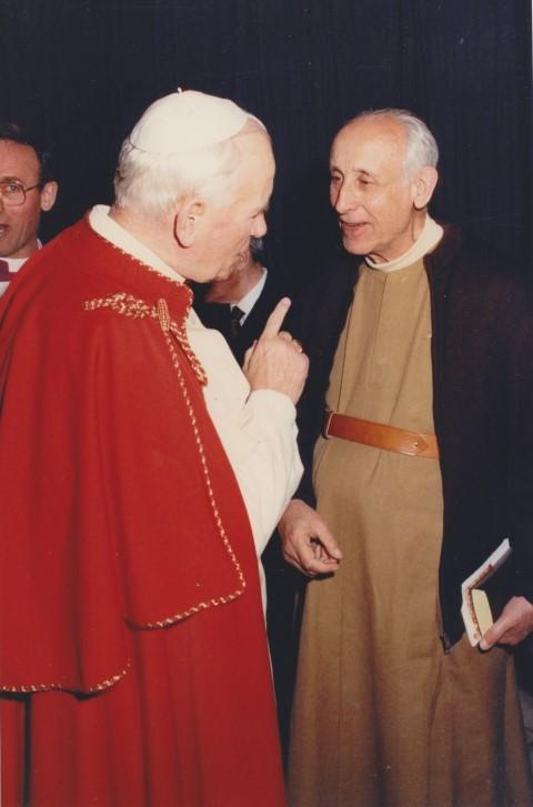 1988 06 07 con papa Giovanni Paolo II a San Petronio BO (1)