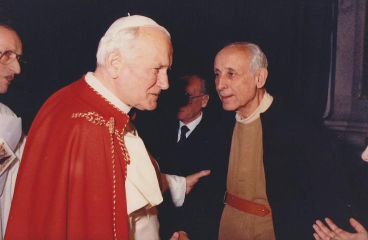 1988 06 07 con papa Giovanni Paolo II - San Petronio BO (2)