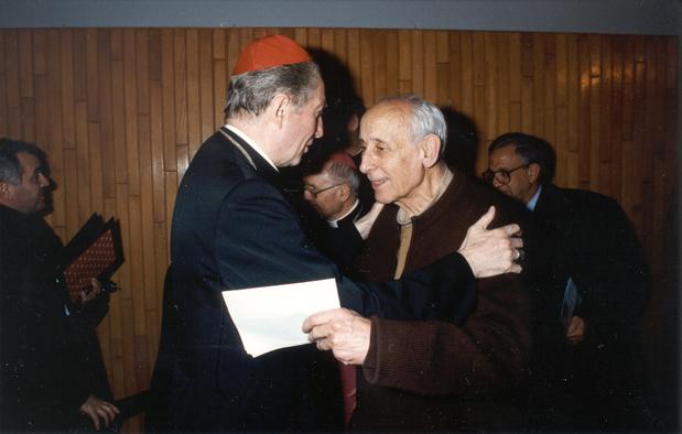 1993 02 17 con card. Martini - commemorazione mons Tondelli - Seminario Reggio Emilia