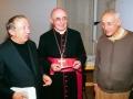 1987 10 03 con card. Biffi e Giussani, altro relatore per il Congresso eucaristico diocesano