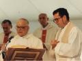 1993 10 04 con don Giulio Salmi - Antonio Allori e Athos Righi - Villa Pallavicini