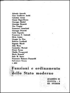 0050 Dossetti - Funzioni e ordinamento dello Stato moderno - Quaderni di iustitia 1953