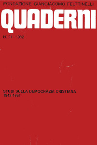 1982 - POMBENI - I dossettiani e la fondaz cassa Mezzogiorno