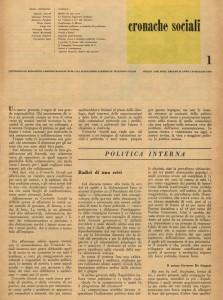 Cronache sociali 1947