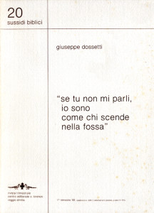 1988 Dossetti - Se tu non mi parli