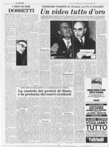 1971 Biagi - I miti di ieri. Dossetti [La Stampa 25.11.1971] (Small)
